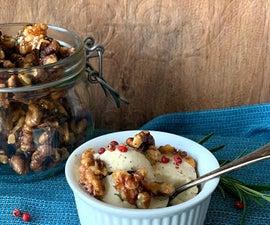 Gorgonzola (Sp)ice Cream With Hot Candied Walnuts