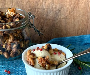 Gorgonzola (Sp)ice Cream With Hot Candied Walnuts