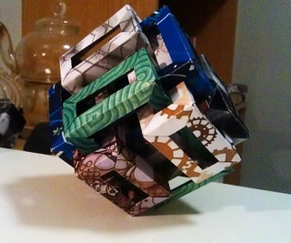 Modular Origami Sculpture: 6 Rectangular Prisms