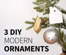 Faceted Wood Ornament