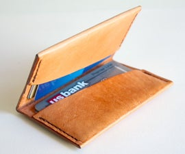 make a leather wallet