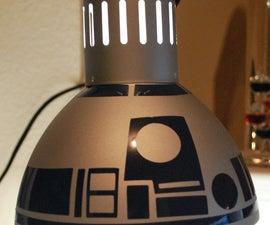 DIY R2D2 Lamp from $10 IKEA lamp