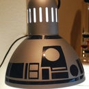 DIY R2D2 Lamp from $10 IKEA lamp