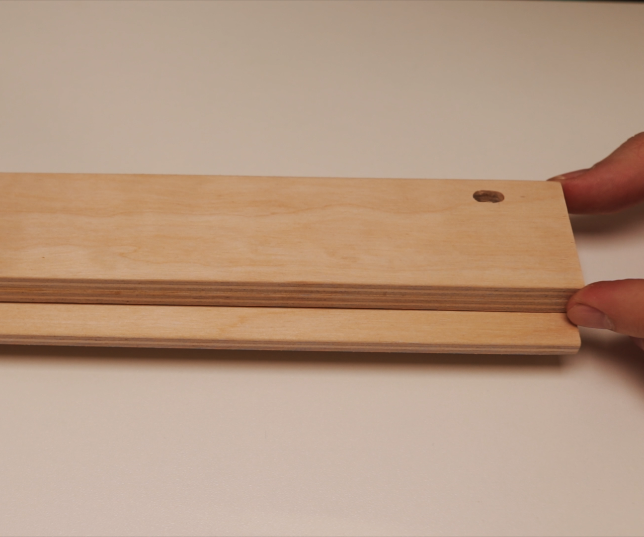 Picture of Gluing the Front Face and the Back Side Parts of the Stand