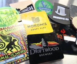 11 Beer Coasters - Laser Cut, Engraved and UV Printed