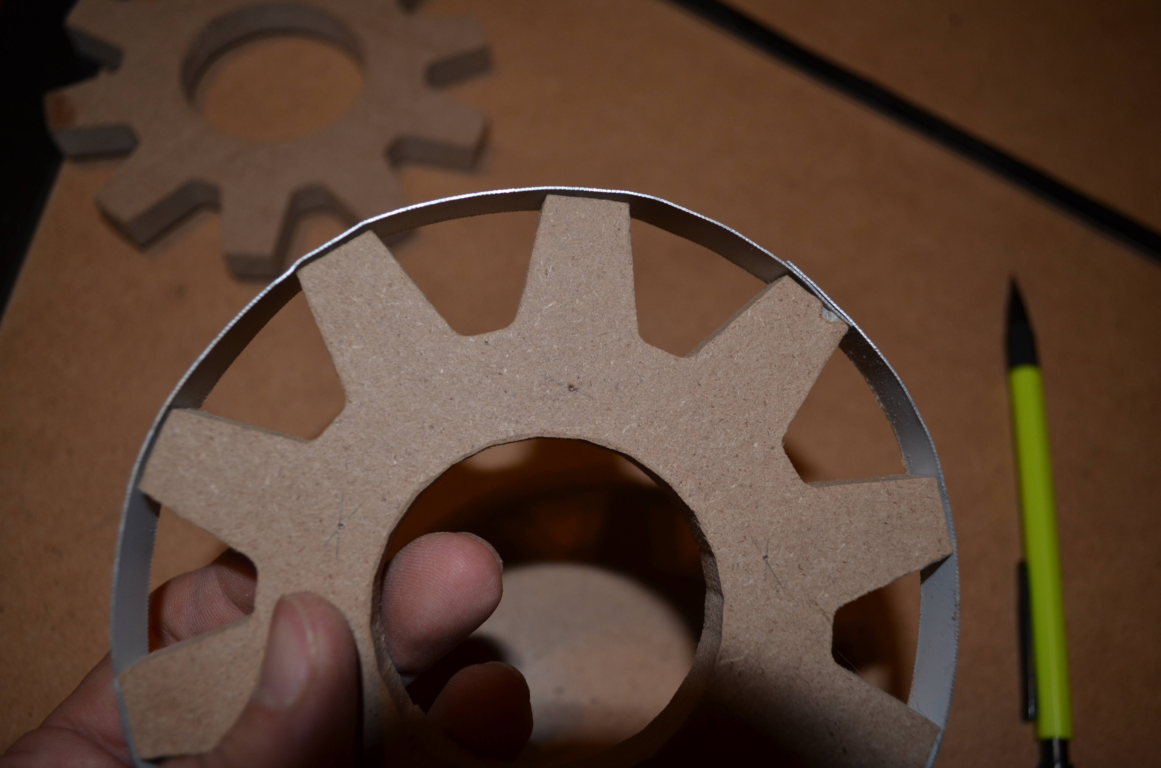 Picture of Attach the Metal Strips to the Gears