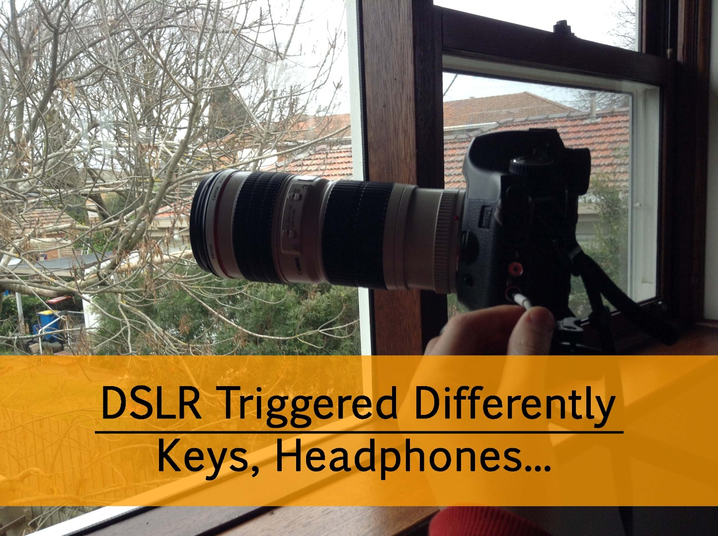 Picture of DSLR Triggered Differently   Keys, Headphones…