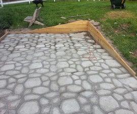 Form In Place Concrete paver patio