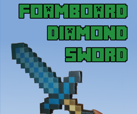 Foamboard Minecraft Diamond Sword