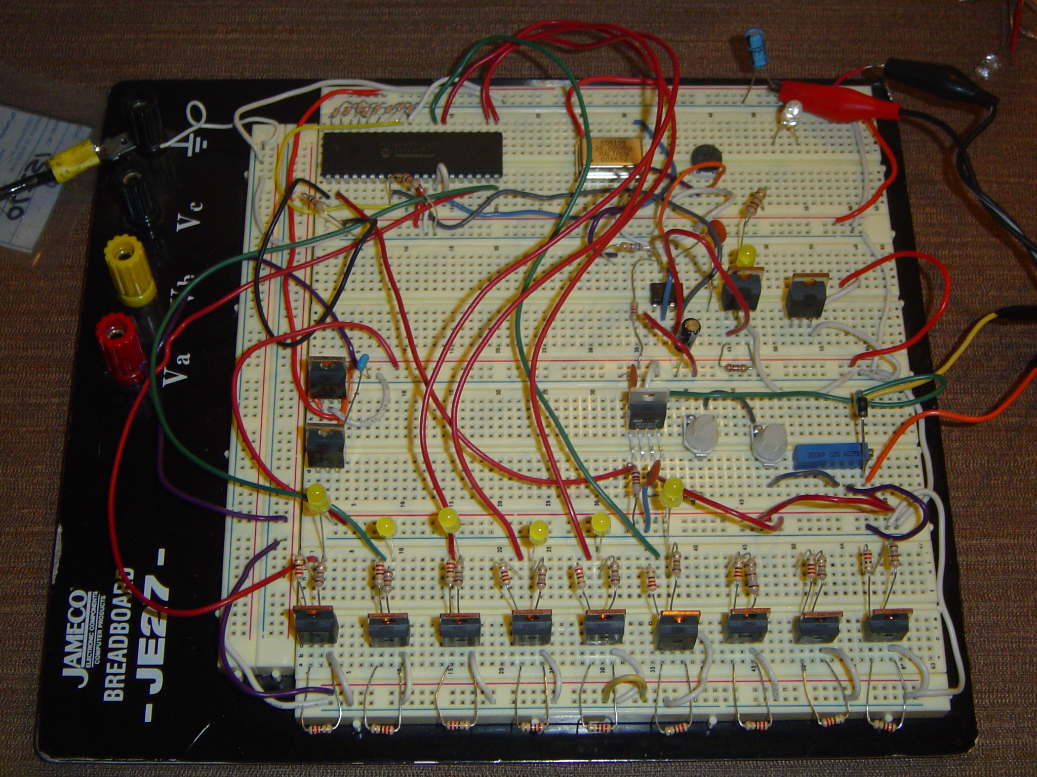 Picture of Microcontrollers and Circuit