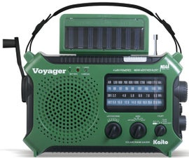 Rechargeable power crank radio prepper mod shortwave emergency cell phone charger battery solar eton kaito grundig weather noaa