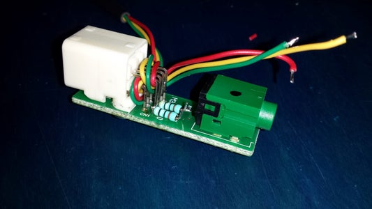 Solder the Resistors and Bring Out Another Audio in Port