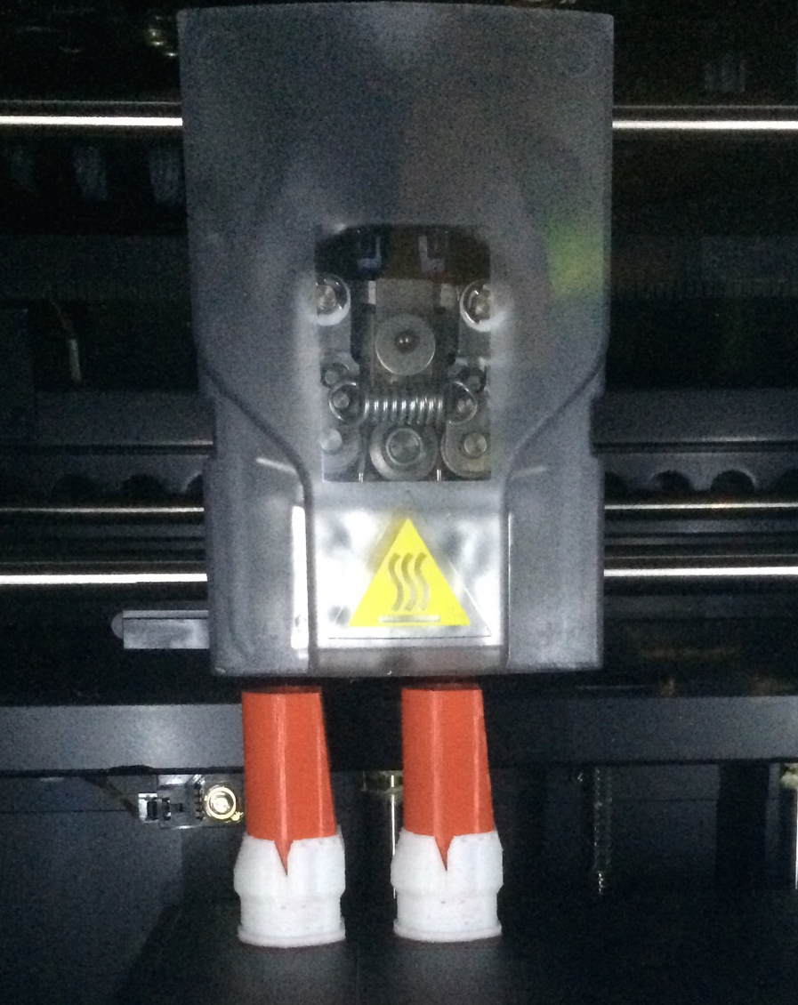 Picture of Printing the .STL Files With the Fortus 250 Mc 3D Printer