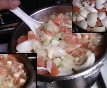 Ox Tail Stew Step 8: Mix the Veggies.