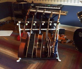 5 Guitar Stand Out of PVC