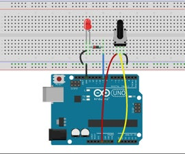 Controlling LED by Potentiometer With Arduino Uno R3