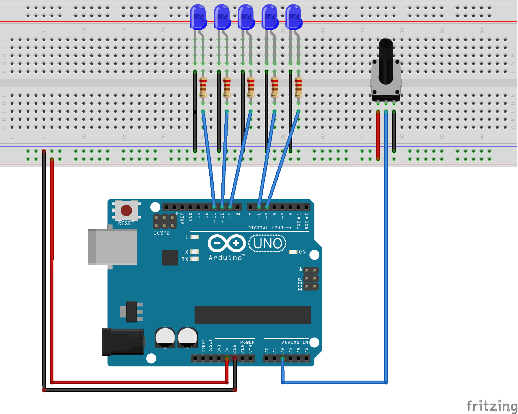 Picture of LED Row Fade Arduino