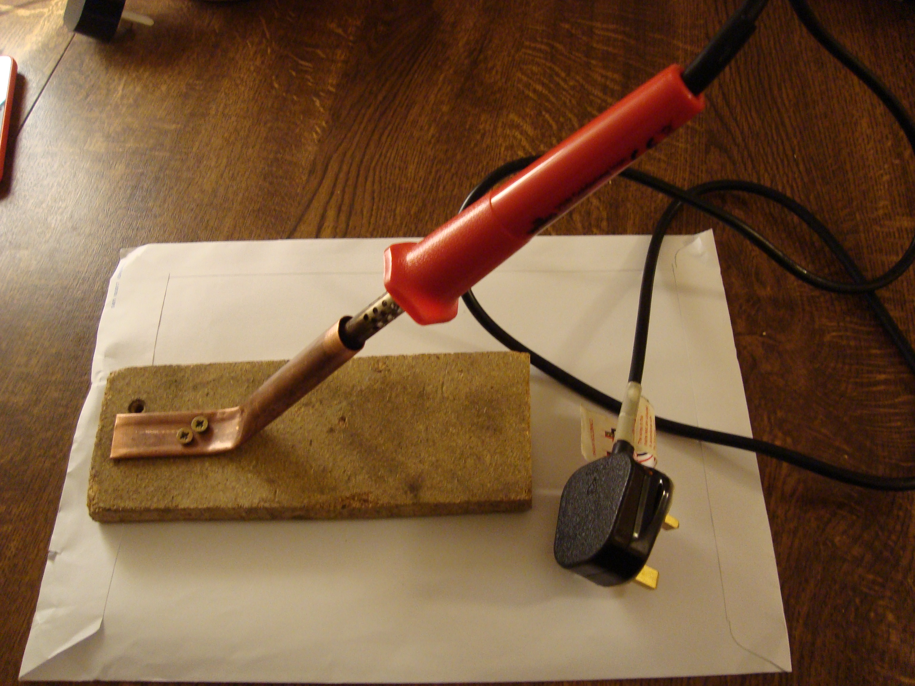 Picture of Soldering Iron Stand From Copper Pipe