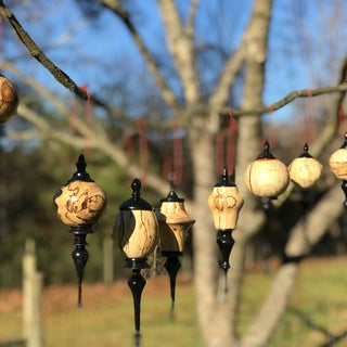 Wooden Christmas Ornaments (on the Lathe)