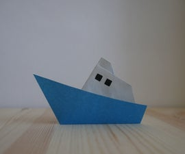Origami. How to Make a Boat