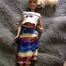 Doll Dress Made Out Of Socks