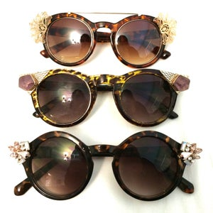 Updating Sunglasses With Jewelry
