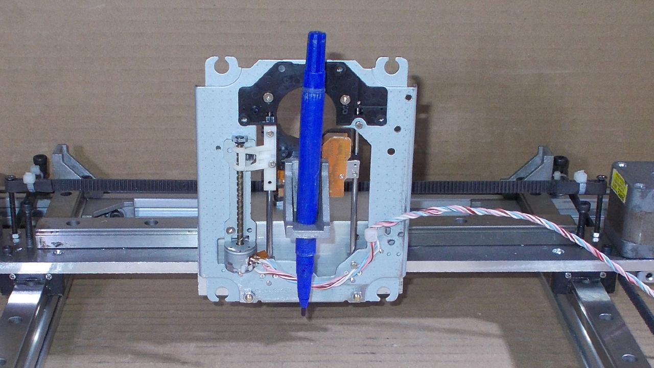 Picture of Homemade Laser Engraving Plotter DIY Pen Draw Mini Machine CD RW DVD Drives Mechanism CNC Arduino