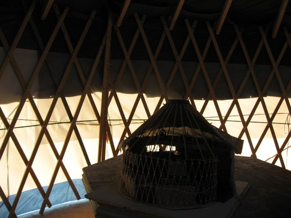 Miniature 20 Foot Yurt in 1:12 Scale