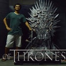 A full scale Iron Throne replica out of cardboard and (un)used chair
