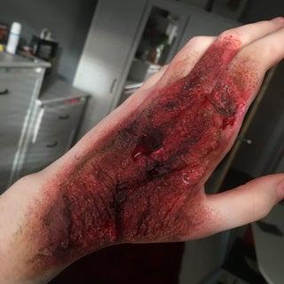 Burn Makeup With Liquid Latex