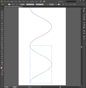 Drawing the Double Helix in Adobe Illustrator (Step 1)
