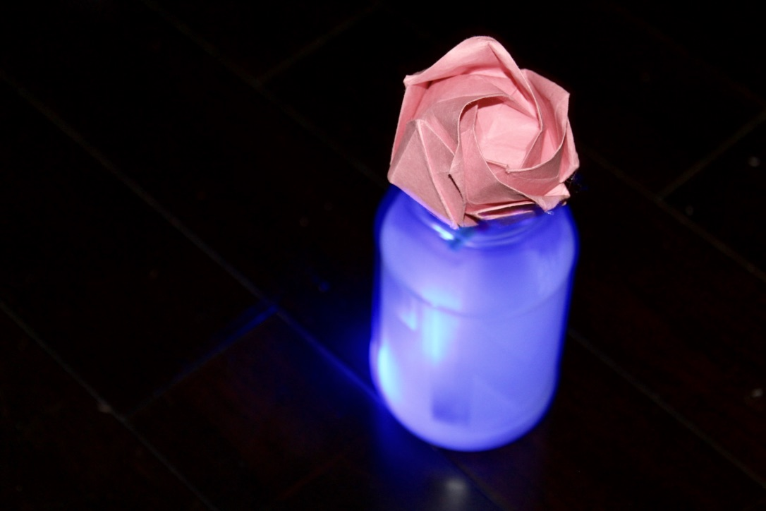 Picture of Frosted Glowing Flower Vase