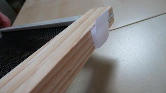 Attach Velcro to Window Frame