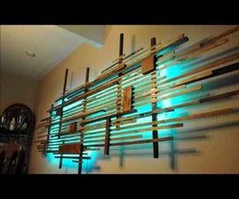 Scrap Wood LED Back-Lit Wall Art