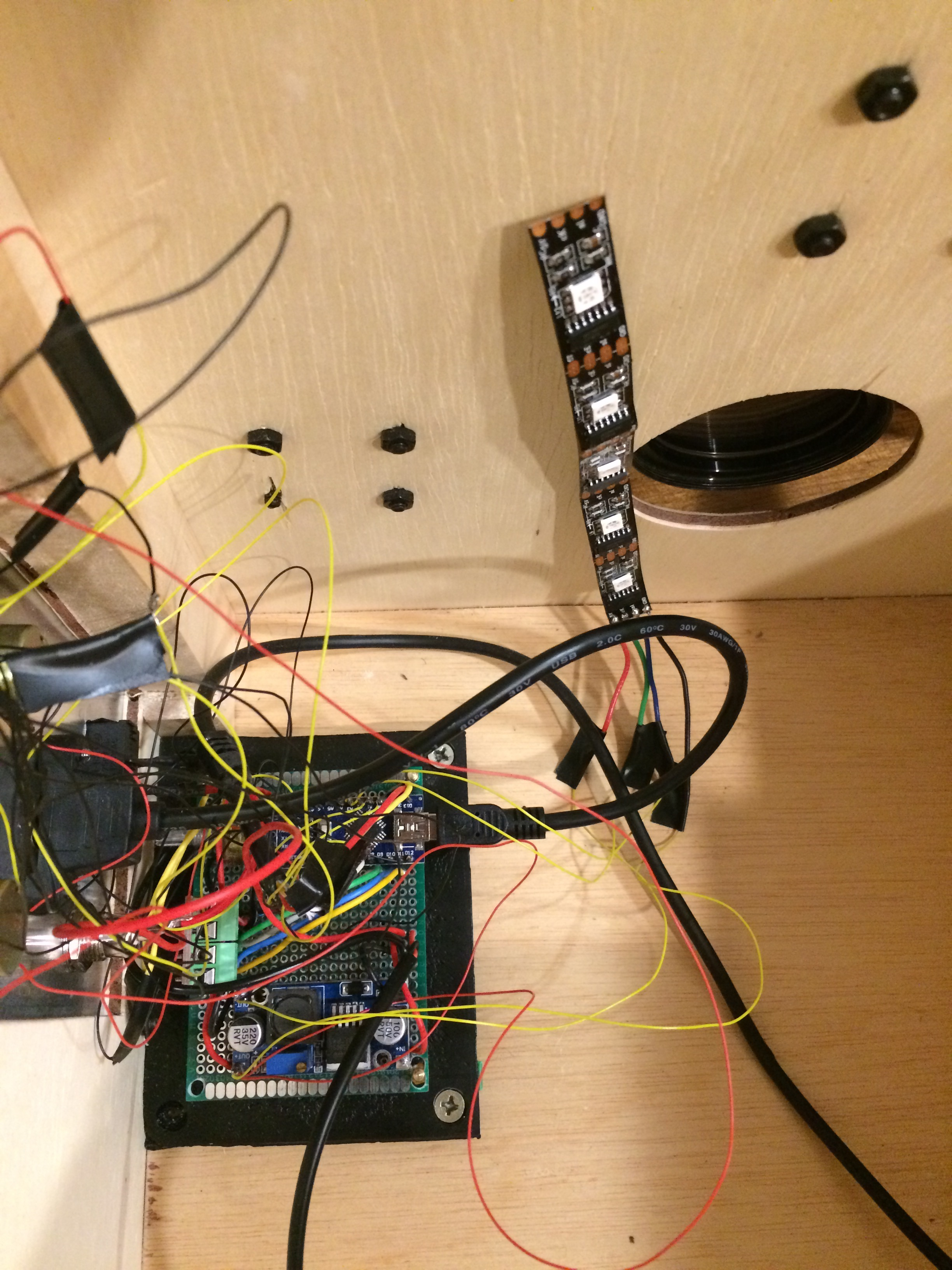 Picture of Mounting the Panel, Motor, and Addressable LEDs