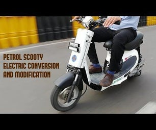 Diy Electric Scooter Petrol to Electric Conversion and Modification