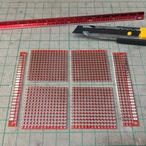 Cut the PCB Board Into 14 X14 Holes Size