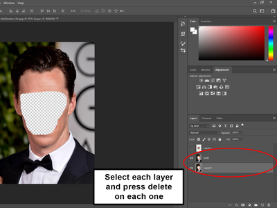 Delete the Clipping Mask From Layer 0 and Body
