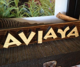 Laser cut out 3D wooden name signs