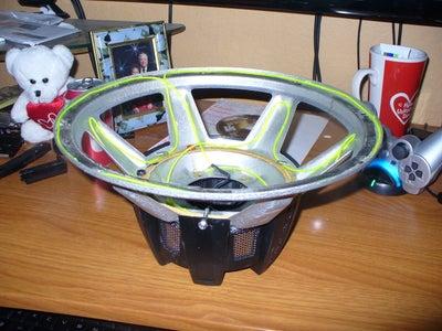 EL Wire Subwoofer Lamp
