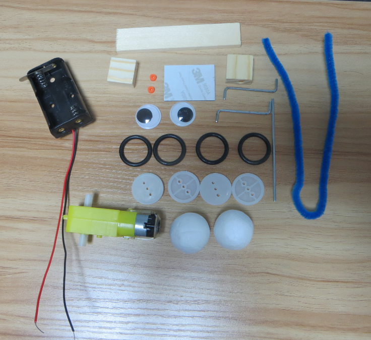 Picture of DIY Cute and Lively Big-Big Eyes Robot Toy for Kids