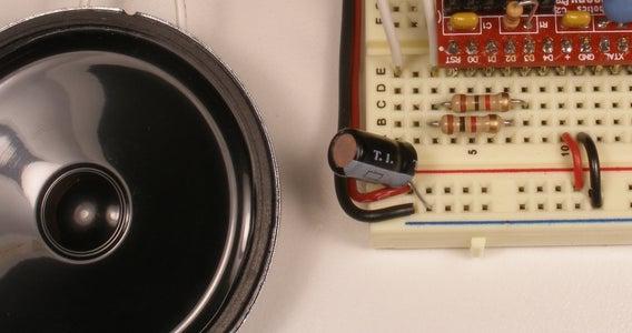 Lashing the Speaker to the Arduino