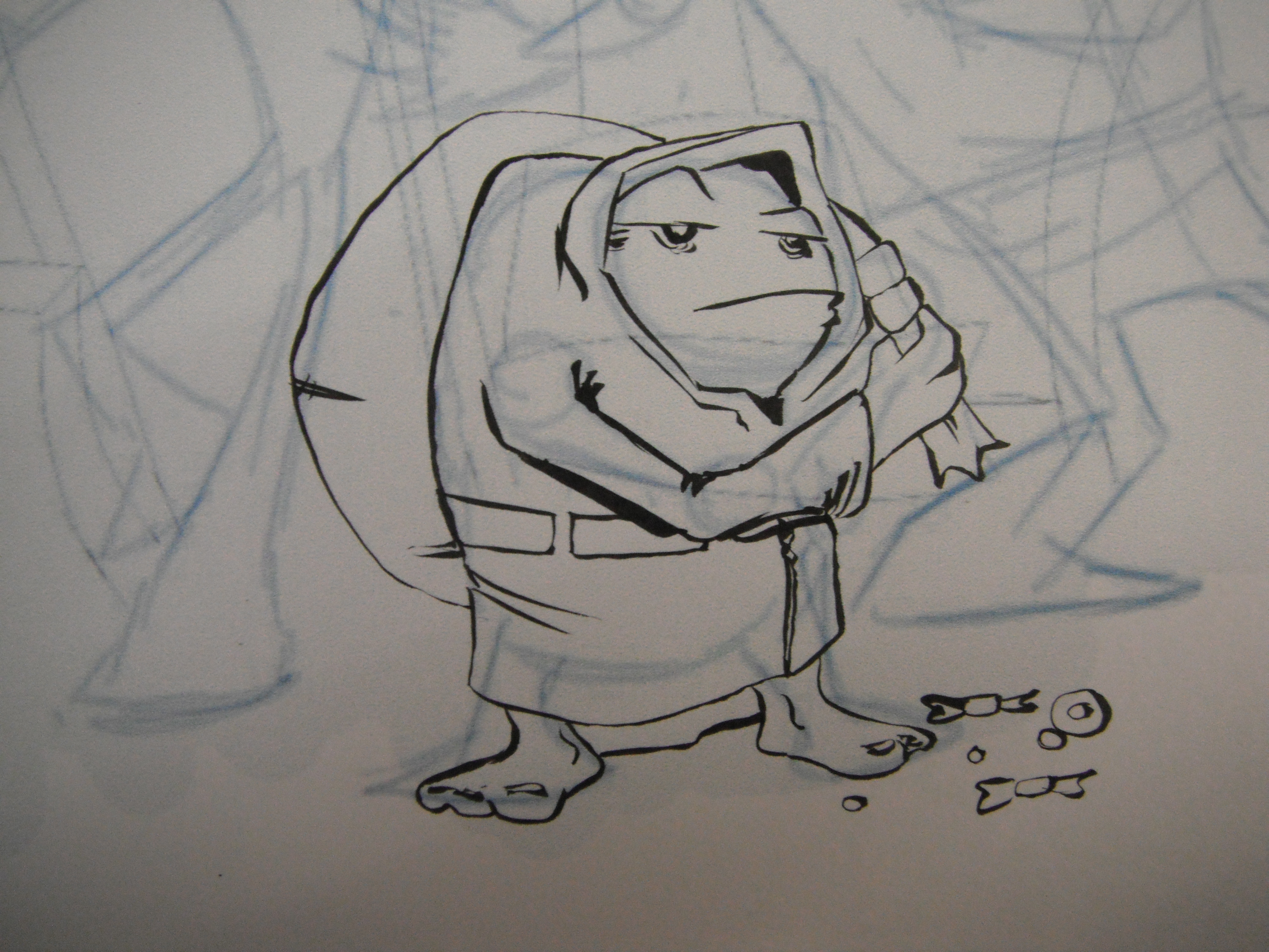 Picture of Inking the Characters