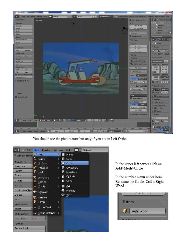 Picture of 3D Animate a Flintstones Car