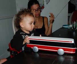 Wooden Streetcar Toy for a City Child