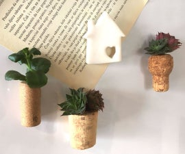 Succulent Wine Cork Magnets