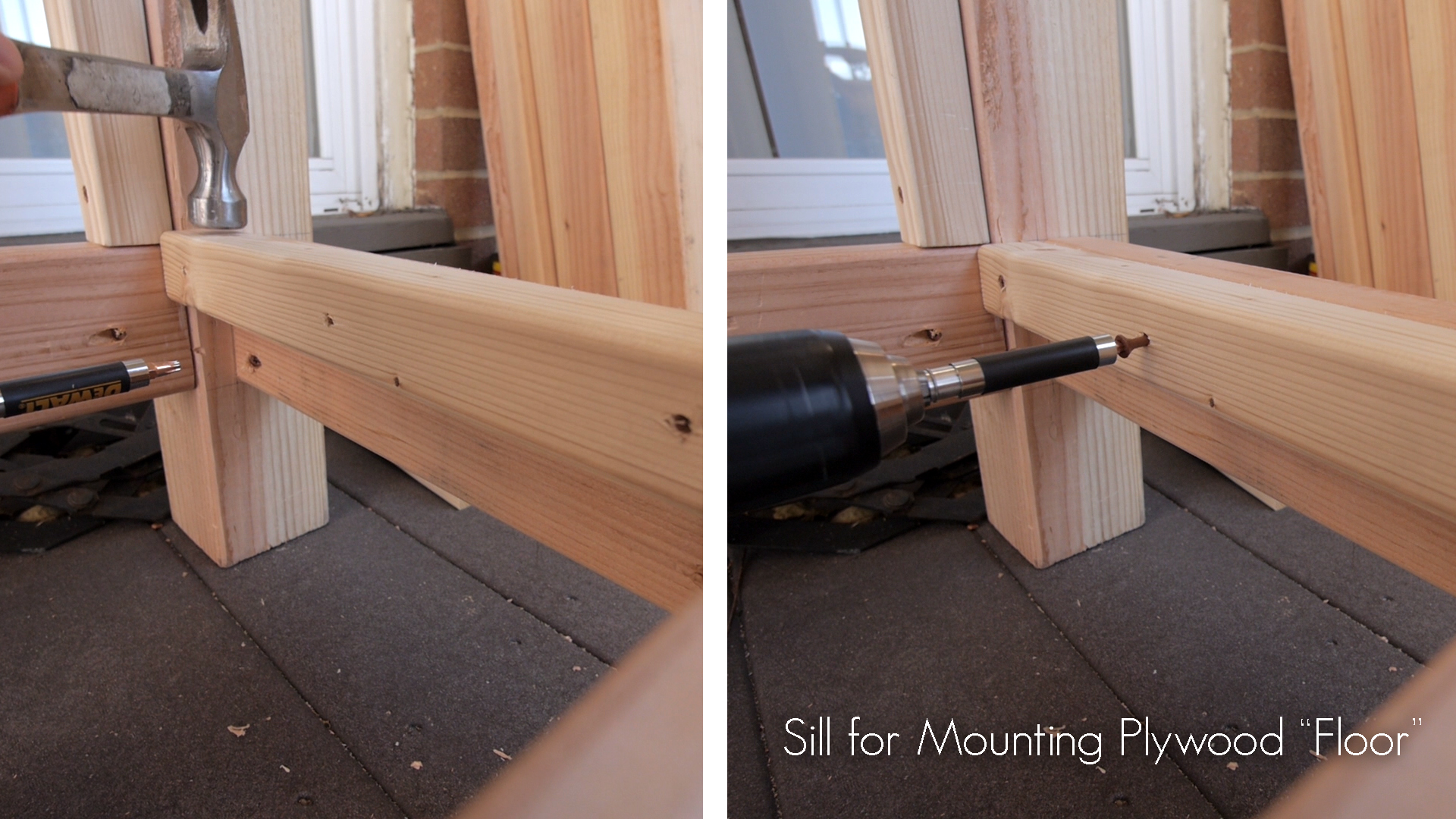 Picture of Sills for the Ends of the Plywood Floor