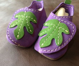 "All Leather ""Fig"" Baby Moccasins"