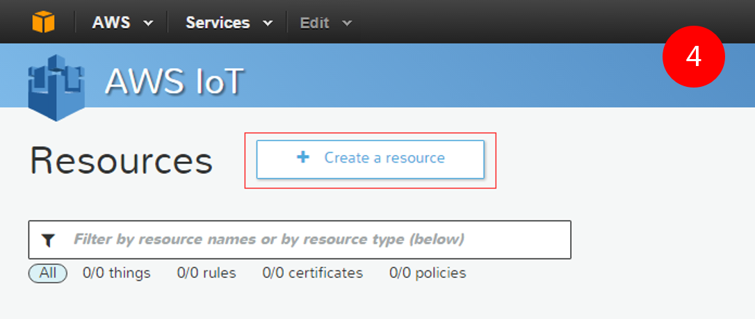 Picture of Configuring Your AWS IoT Service