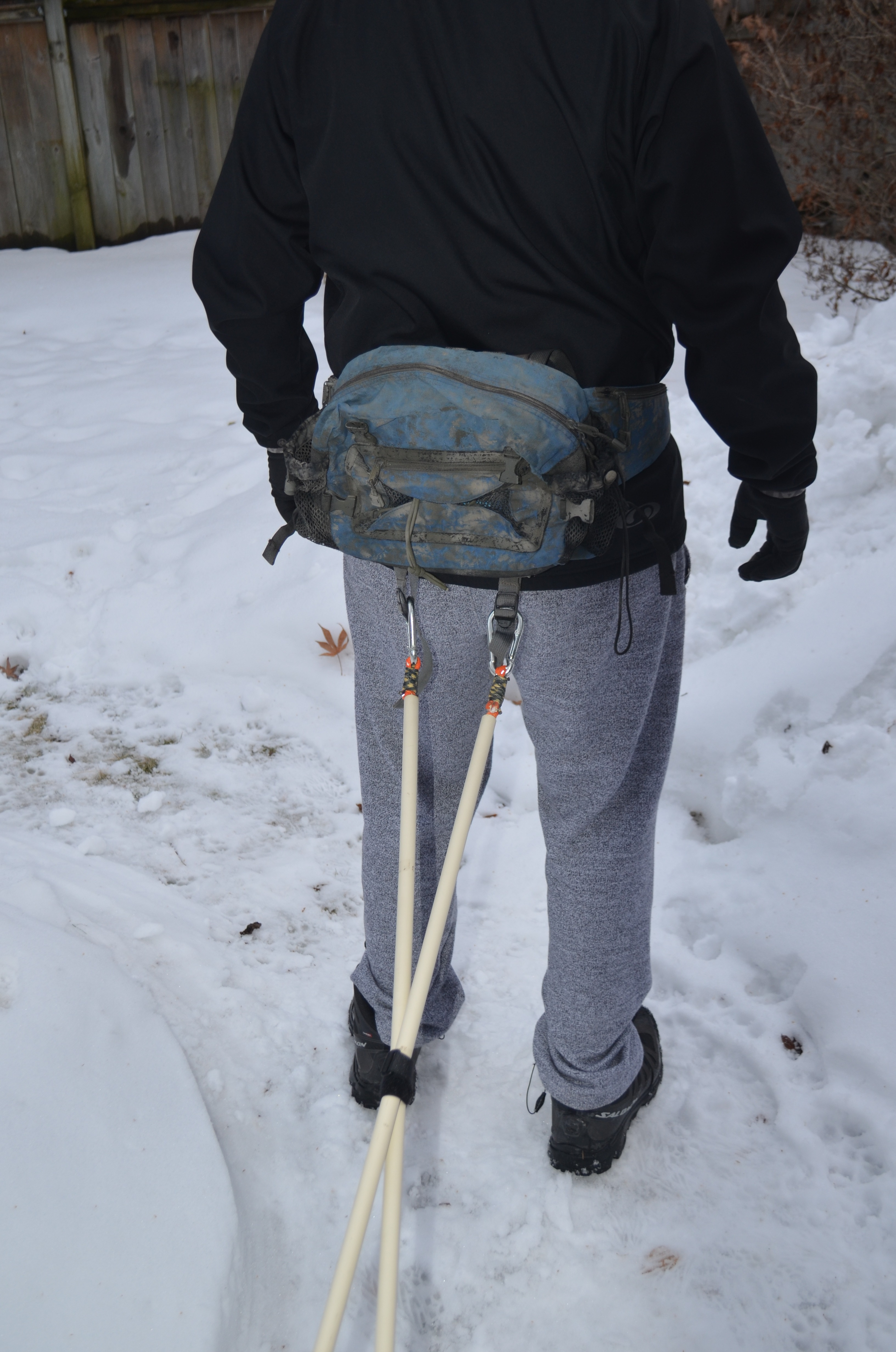 Picture of Clip Your Sled to Your Waist Belt.